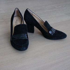 Marvin K block heel pumps